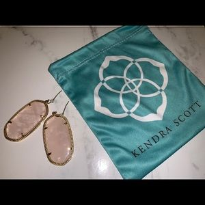 "Kendra Scott ""Danielle"" light pink earrings"